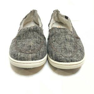 Roxy Women's Lido Wool Lined Slip On Tweed Shoe  8
